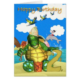 Alles- Gute zum Geburtstagschildkröte, die Karte