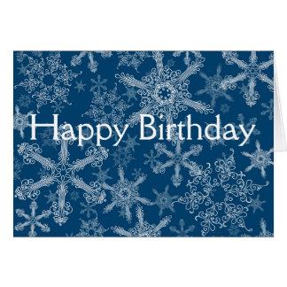 Alles Gute zum Geburtstagschneeflocken Karte