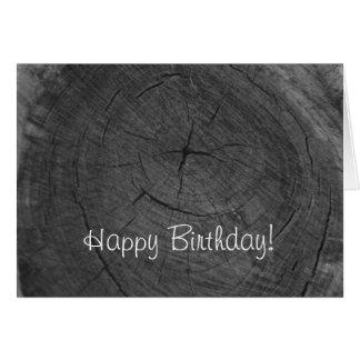Alles Gute zum Geburtstagschwarzweiss-Baumringe Grußkarte