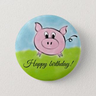 Alles Gute zum Geburtstagschwein Runder Button 5,1 Cm