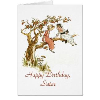 Alles- Gute zum Geburtstagschwester Karte