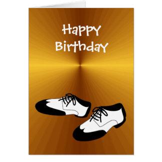 Alles- Gute zum Geburtstagschwingen-Tanz-Schuhe Grußkarte