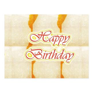 Alles- Gute zum Geburtstagskript: SAFRAN reiner Postkarte