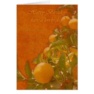 Alles- Gute zum Geburtstagspanischer Orangenbaum, Grußkarte