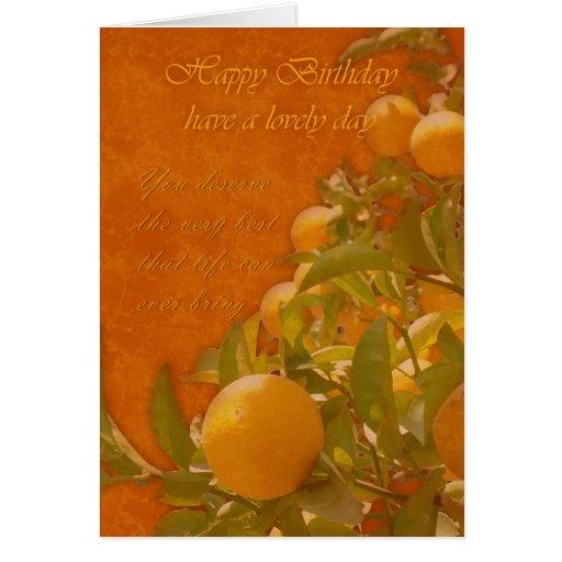 Alles- Gute zum Geburtstagspanischer Orangenbaum, Karte