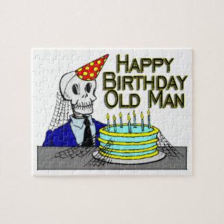 Alles- Gute zum Geburtstagspinnen-Netz-alter Mann Puzzle
