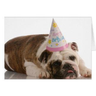 Alles- Gute zum Geburtstagstier-Hundekarte Karte