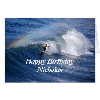 Alles- Gute zum GeburtstagSurfer Nicholas mit Karte