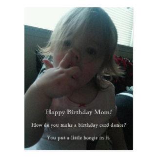 Alles- Gute zum Geburtstagtänzer-Mamma Postkarte