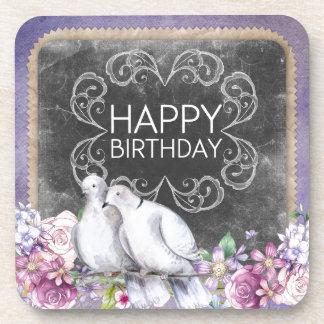 Alles Gute zum Geburtstagtauben Untersetzer