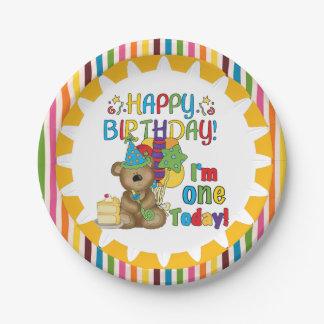 Alles- Gute zum GeburtstagTeddybär-1. Pappteller 17,8 Cm