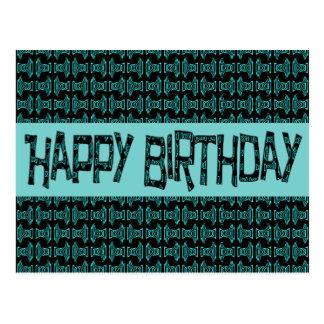 Alles- Gute zum GeburtstagTürkis glückliches Postkarte