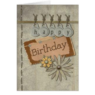 Alles- Gute zum Geburtstagumbauten Karte