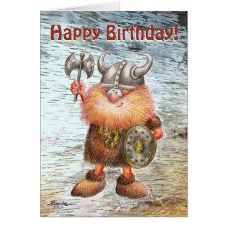 Alles- Gute zum GeburtstagViking-Geburtstags-Karte Grußkarte