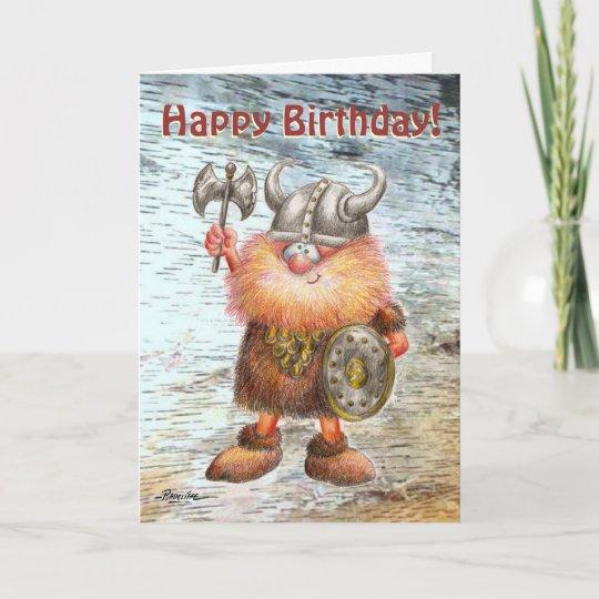 Alles Gute Zum Geburtstagviking Geburtstags Karte Karte