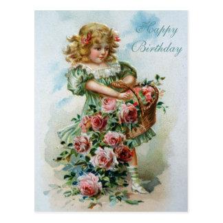 Alles- Gute zum Geburtstagviktorianische Postkarte