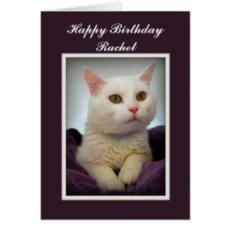 Alles- Gute zum Geburtstagweiße Katzen-Karte Karte