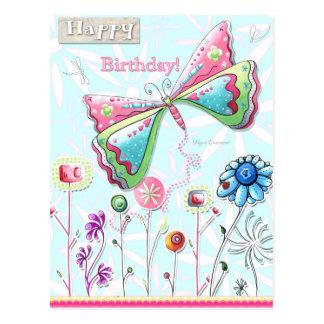 Alles- Gute zum Geburtstagwunderliche Postkarte