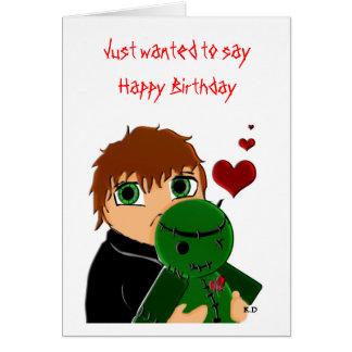 Alles- Gute zum Geburtstagzombie Grußkarte