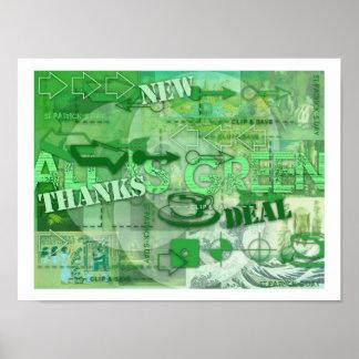 Alles ist gehen grünes St- Patrickplakat 2 grün Poster