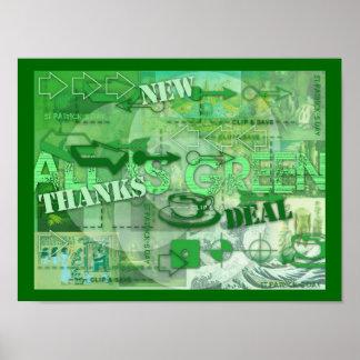 Alles ist gehen grünes St- Patrickplakat 3 grün Poster
