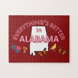 Alles ist in Alabama-Puzzlespiel besser Puzzle