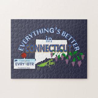 Alles ist in Connecticut-Puzzlespiel besser Puzzle