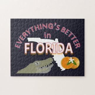 Alles ist in Florida-Puzzlespiel besser Puzzle