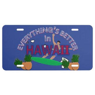 Alles ist in Hawaii-Kfz-Kennzeichen besser US Nummernschild