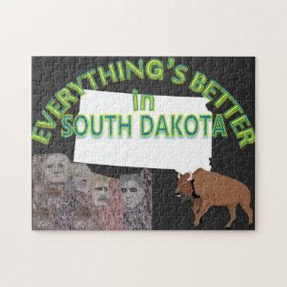 Alles ist in South- Dakotapuzzlespiel besser Puzzle
