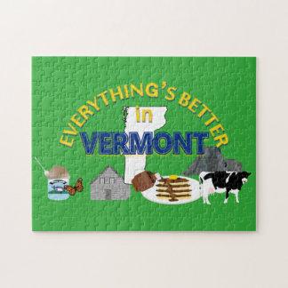 Alles ist in Vermont-Puzzlespiel besser Puzzle