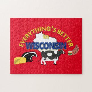 Alles ist in Wisconsin-Puzzlespiel besser Puzzle