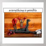 Alles ist möglich! Motivierend Plakat