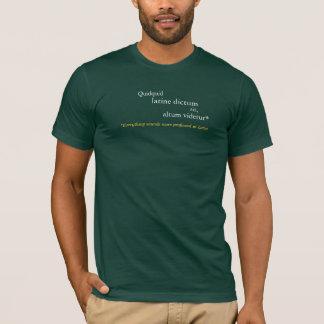 Alles klingt im Latein profunder T-Shirt