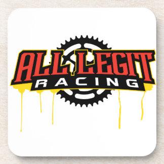 Alles Legit-laufende Logo Untersetzer