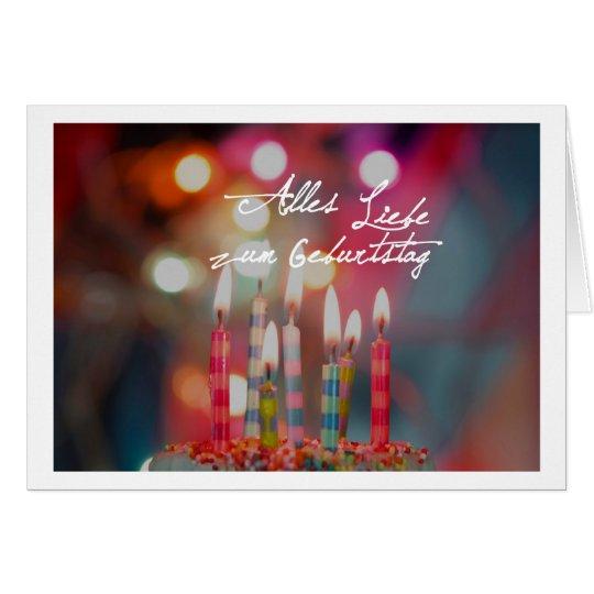 Alles Liebe zum Geburtstag Karte