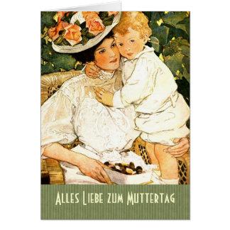 Alles Liebe zum Muttertag. Deutsche Gruß-Karte
