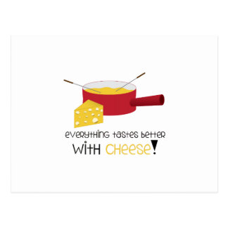 Alles schmeckt mit Käse besser! Postkarte