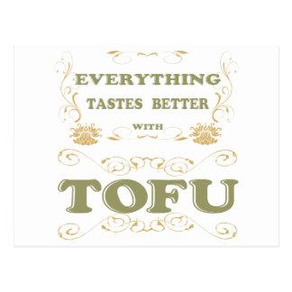 Alles schmeckt mit Tofu besser Postkarte