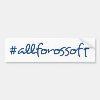 #AllForOssoff blauer Text-Autoaufkleber Autoaufkleber