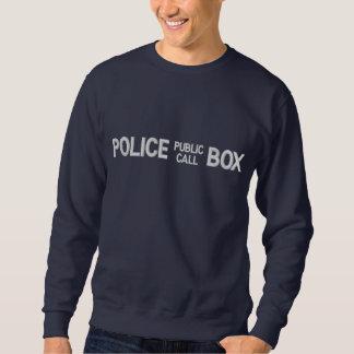 Allgemeine Anruf-Polizei ruft Kasten an Besticktes Sweatshirt