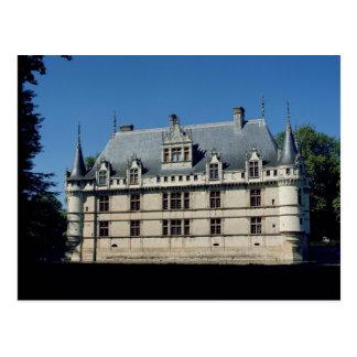 Allgemeine Ansicht des Chateaus D'Azayle-Rideau Postkarte