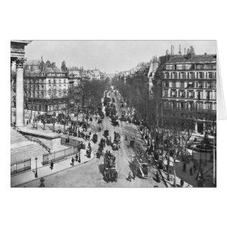 Allgemeine Ansicht des Platzes de la Madeleine Grußkarten
