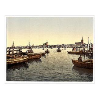 Allgemeine Ansicht, Rostock, Mecklenburg-Schwern, Postkarte