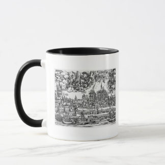 Allgemeine Ansicht von Köln, 1531 (Stich) (b/w pho Tasse