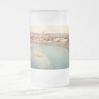 Allgemeine Ansicht von Verona, Venetien, Italien Mattglas Bierglas