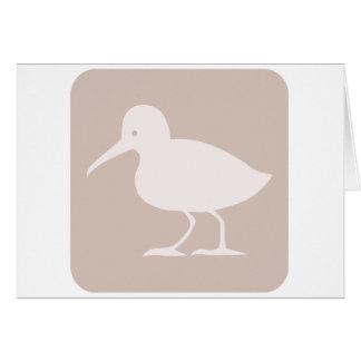 Allgemeine Flussuferläufer-Vogel-Ikone Karte