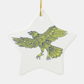 Allgemeine Raben-Fliegen-Mandala Keramik Ornament