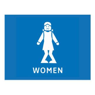Allgemeine Toiletten-Frauen, Zeichen, Kalifornien, Postkarten