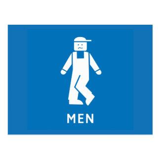 Allgemeine Toiletten-Männer, Zeichen, Kalifornien, Postkarte